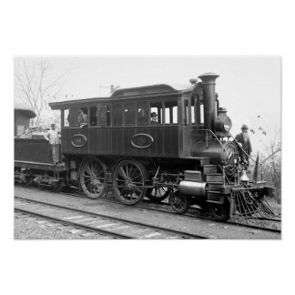 DL+ W-Dampf-Inspektions-Lokomotive Poster