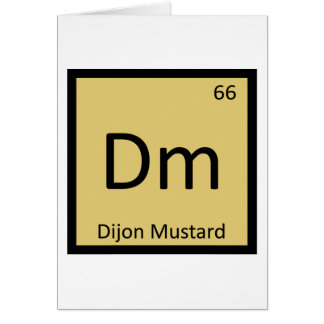 Dm - Dijon-Senf-Chemie-Periodensystem-Symbol Karte