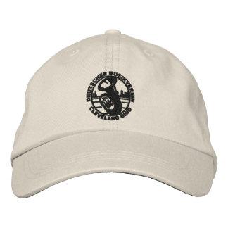 DMV Baseball-Mütze-Schwarz-Logo Bestickte Baseballkappe