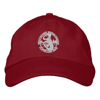 DMV Baseball-Mütze-Weiß-Logo Bestickte Baseballkappe