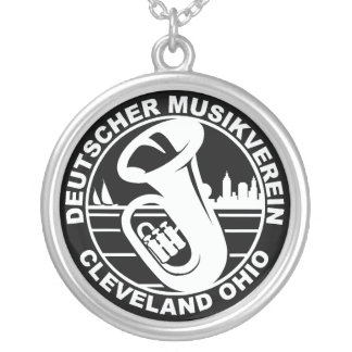 DMV Halsketten-Weiß auf Schwarzem Versilberte Kette