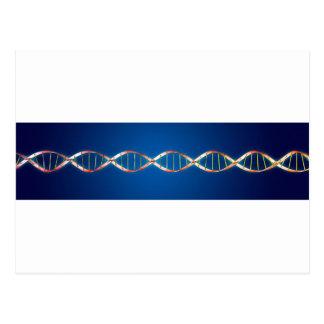 DNS-Doppelhelix Postkarte