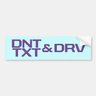 DNT TXT U. DRV AUTOAUFKLEBER