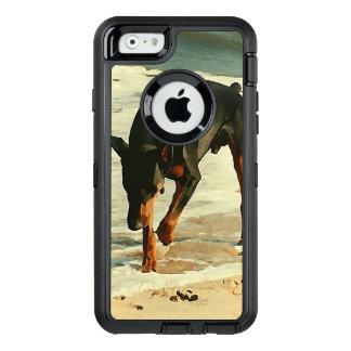 Dobermann am Strand-Malerei-Bild OtterBox iPhone 6/6s Hülle