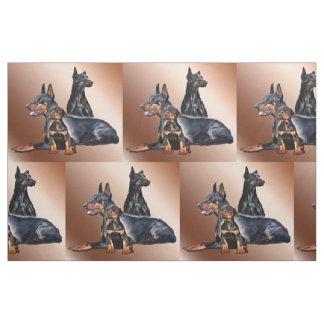 Dobermann-Familien-Hundezucht-Gewebe Stoff
