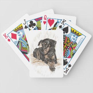 Dobermann-Hundenatürliche Ohren Bicycle Spielkarten