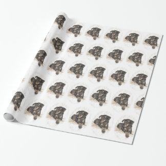 Dobermann-Hundenatürliche Ohren Geschenkpapier
