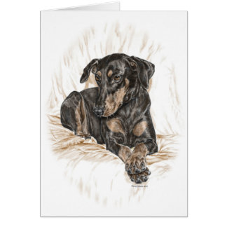 Dobermann-Hundenatürliche Ohren Karte