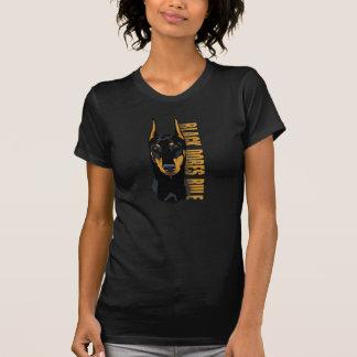 Dobermann-Kopf, schwarze Dobes Regel T-Shirt