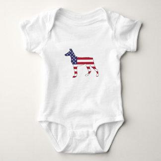 "Dobermann Pinscher ""amerikanische Flagge "" Baby Strampler"