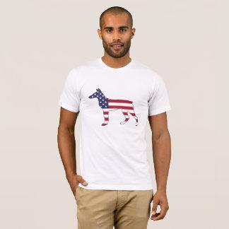 """Dobermann Pinscher """"amerikanische Flagge """" T-Shirt"""