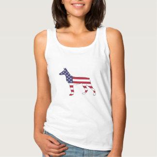 """Dobermann Pinscher """"amerikanische Flagge """" Tanktop"""