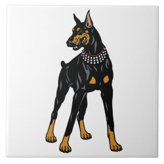 Dobermann Pinscher Fliese