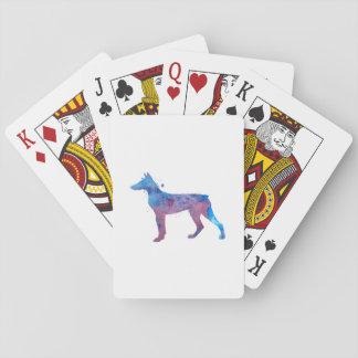 Dobermann Pinscher Spielkarten
