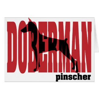 Dobermann-Silhouette, gestapelt Karte
