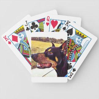 Dobermann-Strudel-Farbe 2 Bicycle Spielkarten
