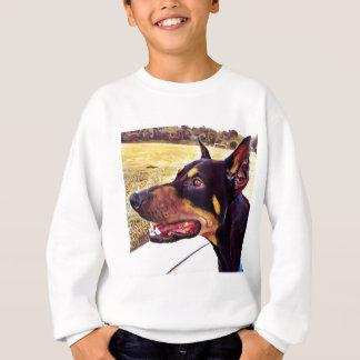 Dobermann-Strudel-Farbe 2 Sweatshirt