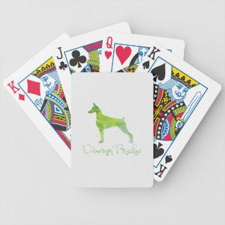 Dobermannpinscher-Aquarell-Entwurf Bicycle Spielkarten