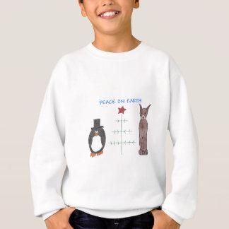 Dobermannpinscher-Brown-Weltfrieden Sweatshirt
