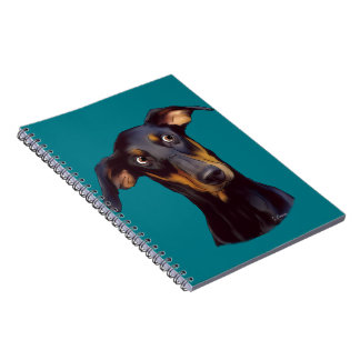 Dobermannpinscher-Hund Spiral Notizblock