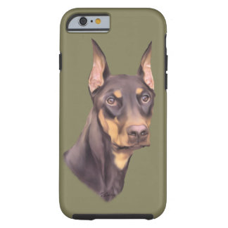 Dobermannpinscher-Hund Tough iPhone 6 Hülle