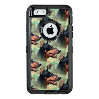 DobermannPinscher im Holz OtterBox iPhone 6/6s Hülle
