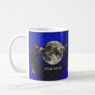 Dobermannpinscher-Mond Kaffeetasse