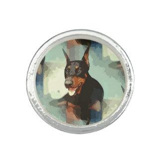 Dobermannpinscher-Porträt Foto Ring