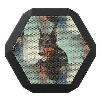 Dobermannpinscher-Porträt Schwarze Bluetooth Lautsprecher