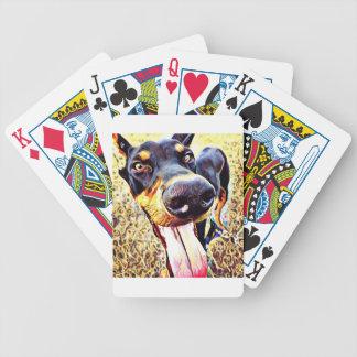 Dobermannpinscher-Strudel-Farbe 1 Bicycle Spielkarten