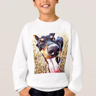 Dobermannpinscher-Strudel-Farbe 1 Sweatshirt