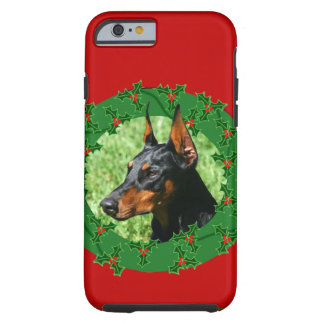 Dobermannpinscher-Weihnachten Tough iPhone 6 Hülle