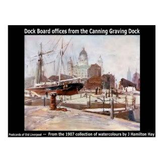 Dock-Brettbüros vom Einmachen von Graving Dock Postkarte