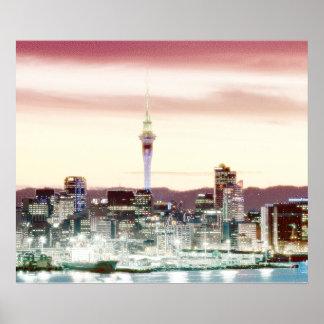 Docklands von Auckland Poster