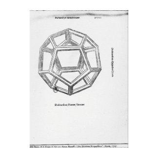 Dodecahedron, von 'De Divina Proportione' Leinwanddruck