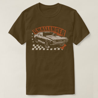 "Dodge Challenger Muscle Car T-Shirt ""Wasted"" Edit"