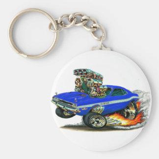Dodge-Herausforderer-Blau-Auto 1970-72 Schlüsselanhänger