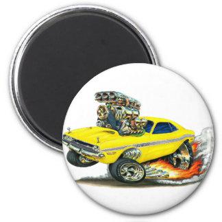 Dodge-Herausforderer-Gelb-Auto 1970-72 Runder Magnet 5,1 Cm
