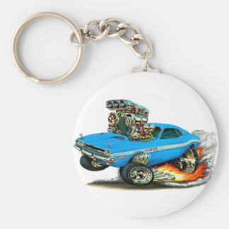 Dodge-Herausforderer-lt 1970-72 Blue Car Schlüsselanhänger