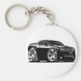 Dodge-Herausforderer-Schwarz-Auto Schlüsselanhänger