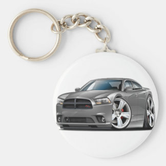 Dodge-Ladegerät Funktelegrafie-Grau-Auto Schlüsselanhänger