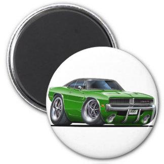 Dodge-Ladegerät-Grün-Auto Runder Magnet 5,1 Cm