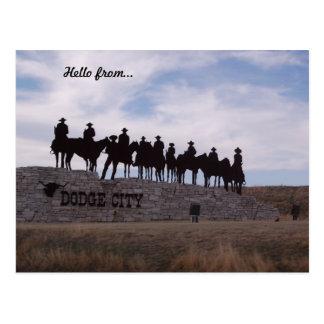 Dodgestadt-Kansas-Postkarte Postkarte