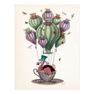 Dodo-Ballon mit Libellen Postkarte