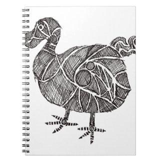 Dodo-Vogel Spiral Notizblock