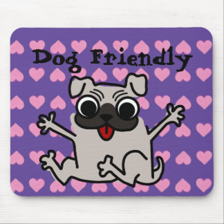 Dog friendly awesome heart pad mousepads