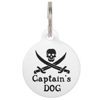 Dog Pet Tag Kapitäns Tiermarke