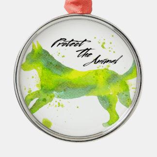 Dog Silbernes Ornament