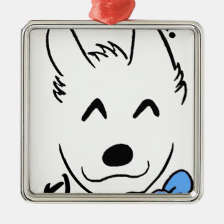 Dogbaby Silbernes Ornament