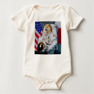Doge Astronaut-doge-shibeDoge Hund-niedlicher Doge Baby Strampler